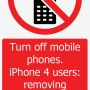 iPhone 4 sign